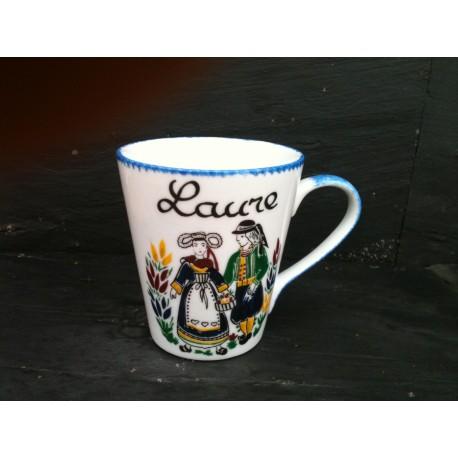 Mug en porcelaine décor traditionnel