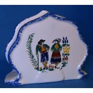 Porte-serviettes en porcelaine décors Cornouaille
