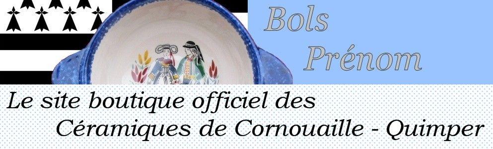 Le véritable Bol Prénom Breton de Quimper à partir de à 7.90€